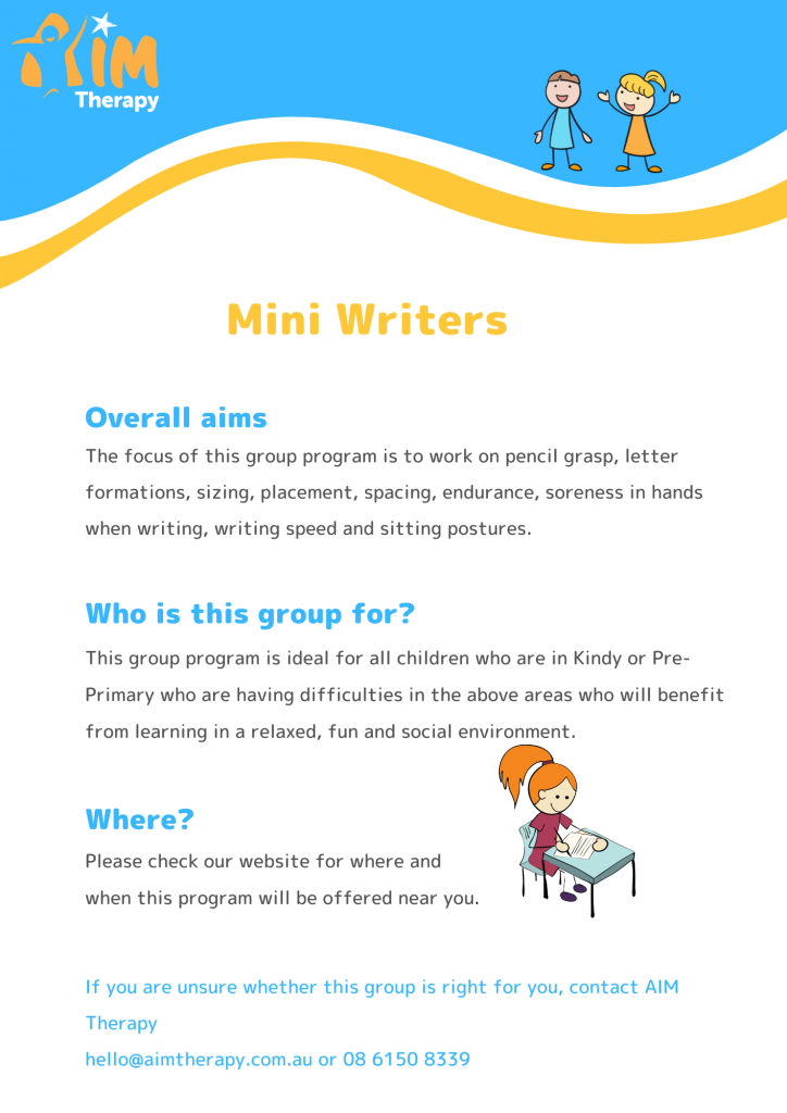 Mini Writers Information Sheet- updated