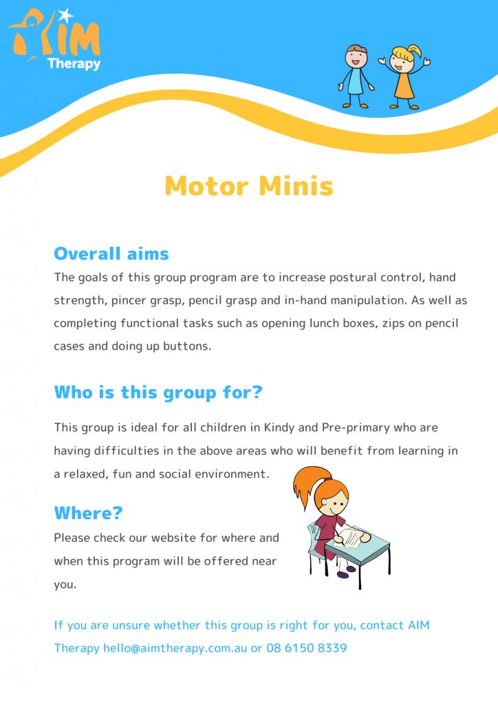 Motor Mini's Information Sheet- updated