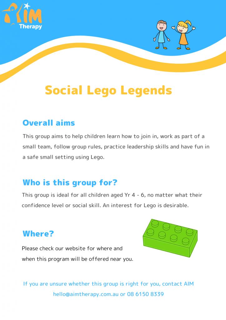 Social Lego Legends information sheet updated