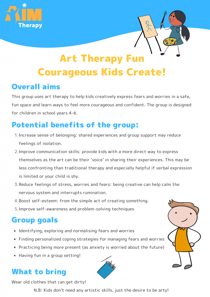 Art Therapy Group information sheet updated