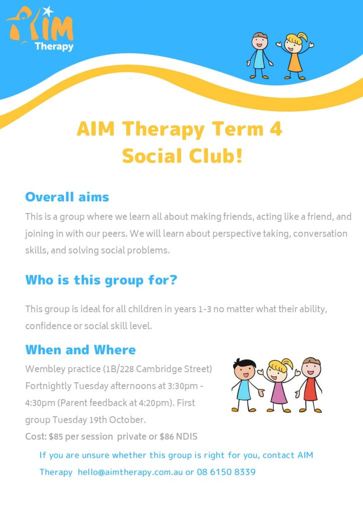 Years Social Club AIM Therapy for Children