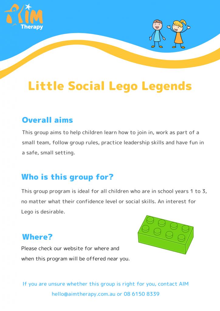 Little Social Lego Legends Information Sheet updated