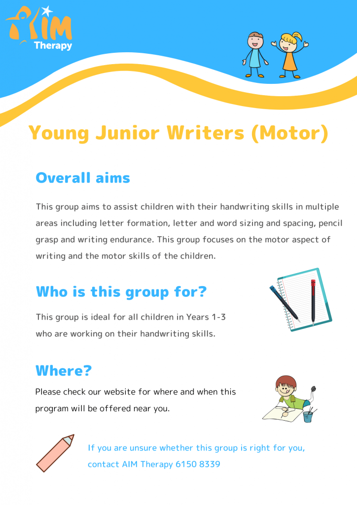 Young Junior Writers Motor information sheet updated