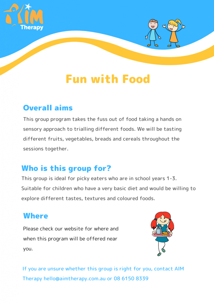 Fun with Food Information Sheet Years