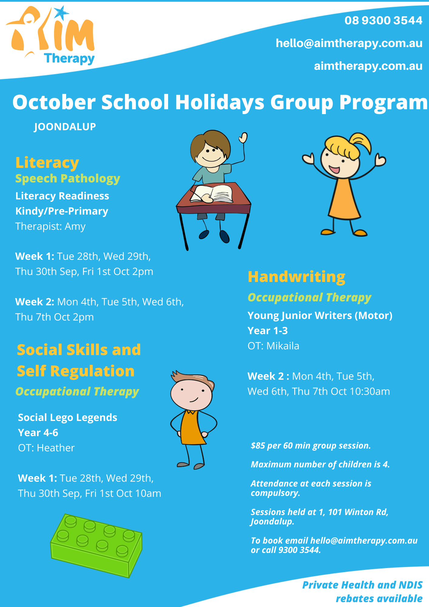 Joondalup October Holiday Groups